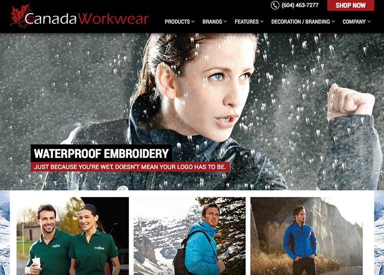 Canada Workwear | Vancouver Web Development and Design