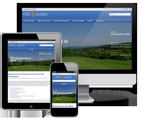 Website Design   Rotary Club Fall Classic