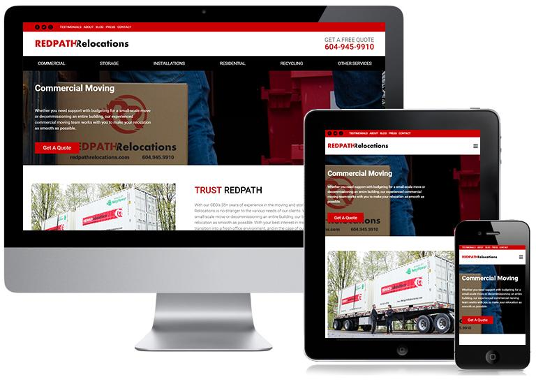 Redpath Relocations Responsive Website